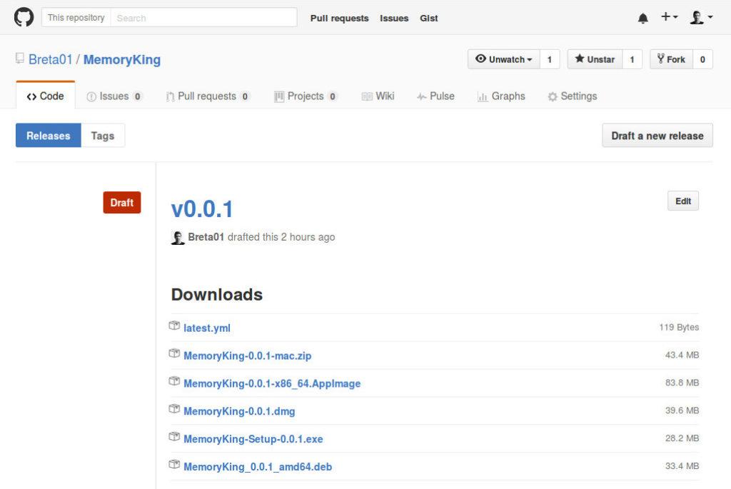 GitHub Draft Release
