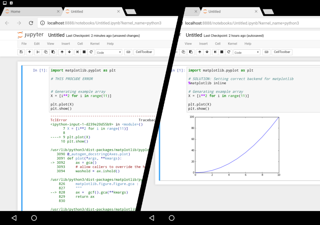 Matplotlib no display ERROR on Android